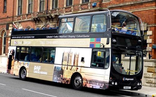 PIW 4457 'Stagecoach Lincolnshire' No. 16943 'CITY SIGHTSEEING TOUR'. Volvo B7TL / Wright Eclipse Gemini /3 on Dennis Basford's railsroadsrunways.blogspot.co.uk'