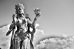 Bodhisattva and clouds