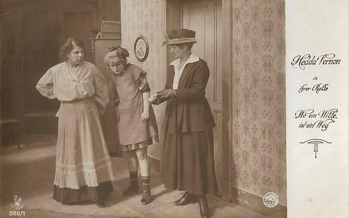 Hedda Vernon in Wo ein Wille, ist ein Weg (1918)
