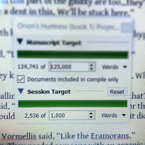 BIG day! #amwriting #writersofinstagram #sciencefiction #spaceopera #orionshuntress