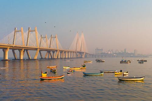 sea sealink mumbai india sunrise boats
