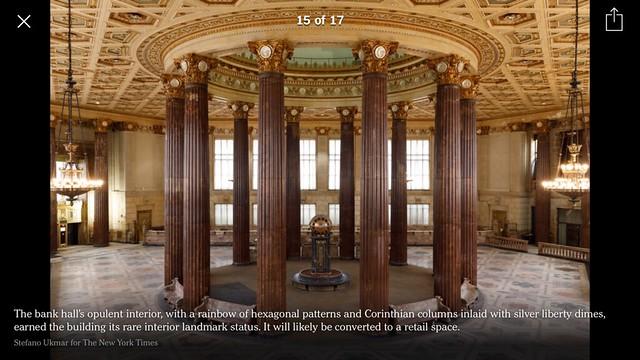Dime bank building columns