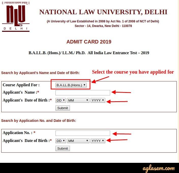 NLU Delhi Releases AILET 2019 Admit Card: Download online at nludelhi.ac.in