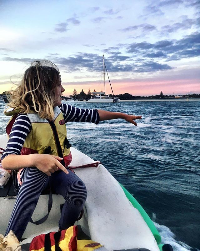 108/365 • I was trying to get a shot of Zoe as we motored back from a supermarket trip - just as I took it she saw a dolphin! I slammed into neutral and we bobbed about in the current for a little while before we got home. No dolphin sashimi tonight, than