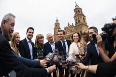 Pablo Casado en un acto con afiliados en Alfaro, La Rioja