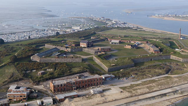 Fort Cumberland in Hampshire - aerial view