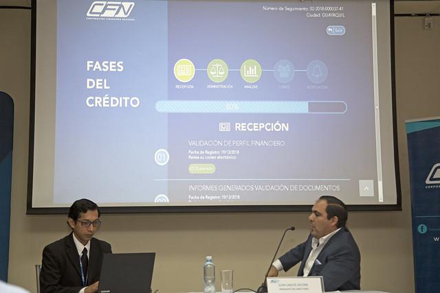 """Presentación del Programa de Seguimiento en Línea de Solicitudes de Crédito """"TRACKING CFN"""""""