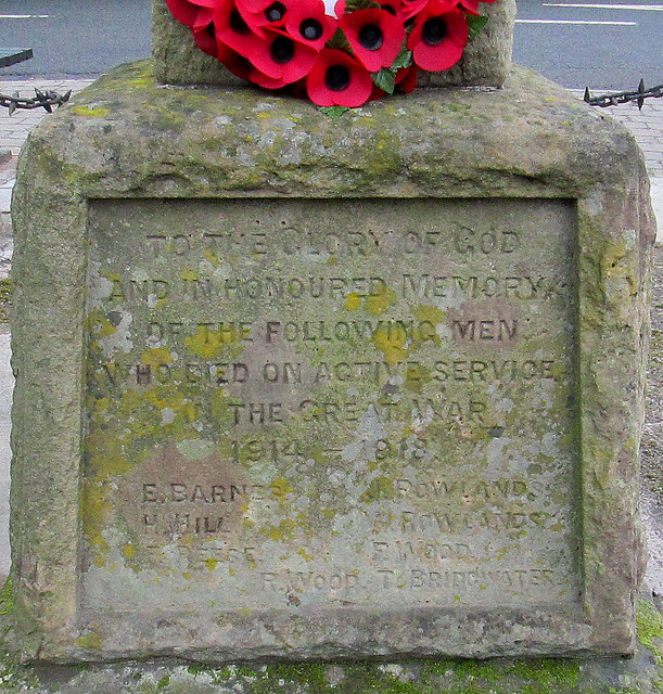 Great War Dedication, Cressage War Memorial