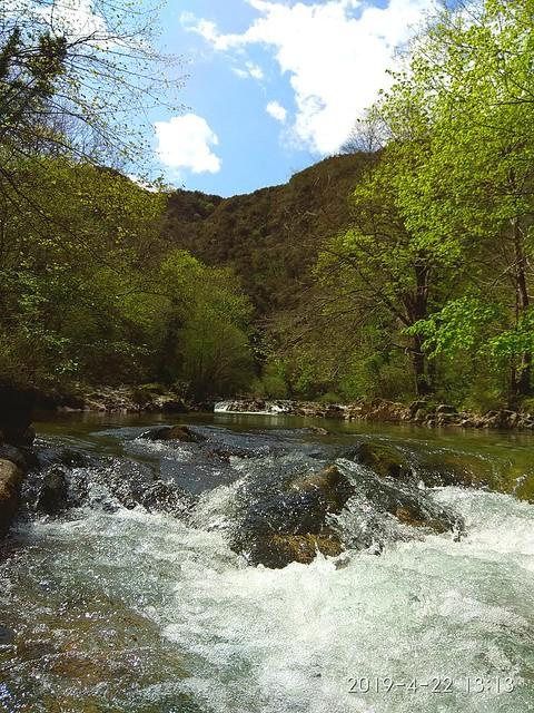 Río Dobra, senda del río Dobra, Cangas de Onís. Asturias