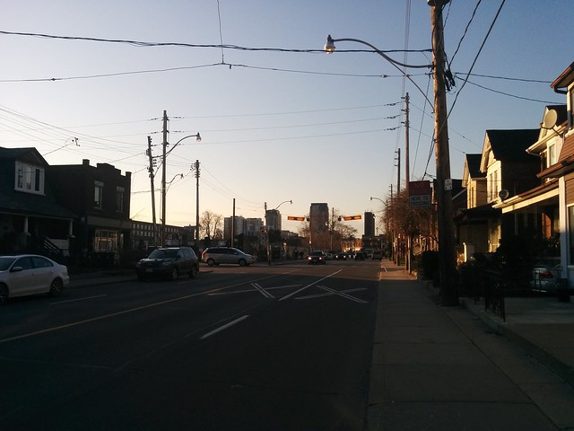 North on Lansdowne at Paton #toronto #wallaceemerson #lansdowneave #patonroad #skyline #evening