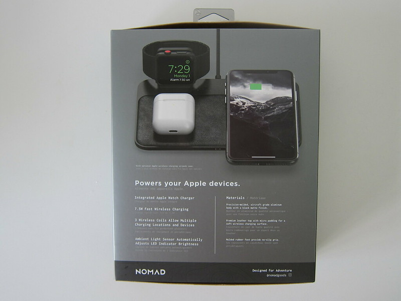 Nomad Base Station Apple Watch Edition - Box Back
