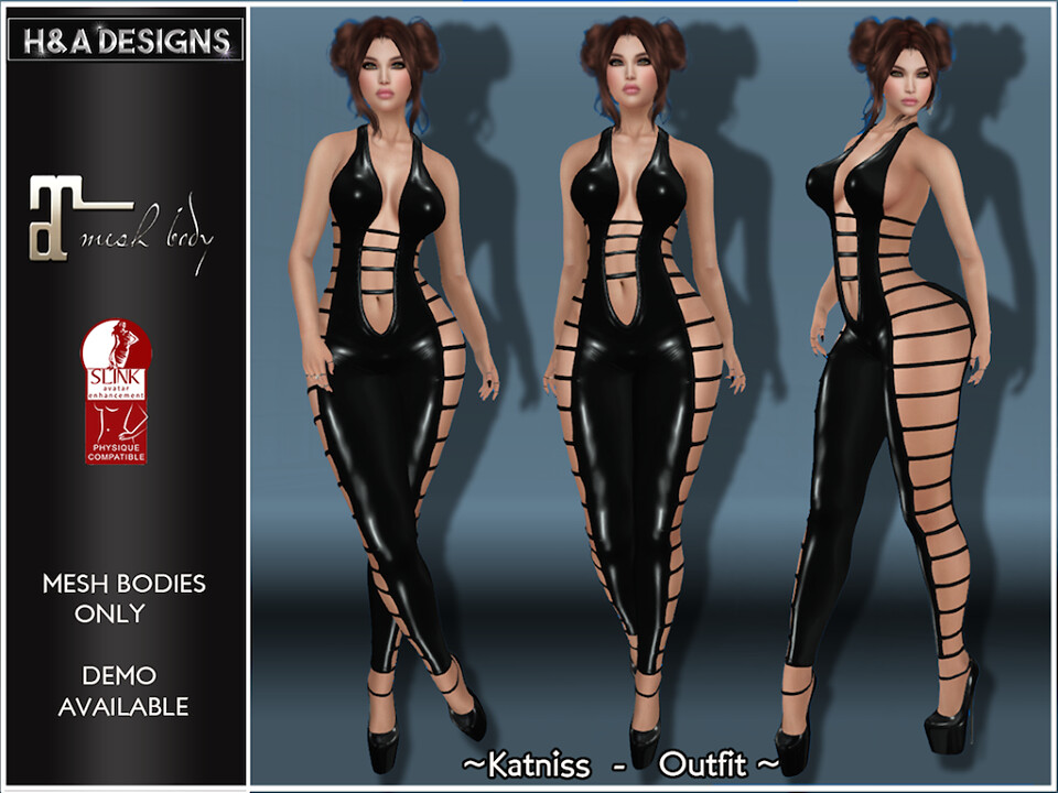 [H&A Designs]-Katniss Outfit Black