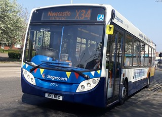 Stagecoach south shields 27731 RARE ON THE X34 (zoomed in version)