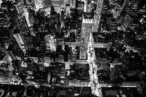 new york usa city town stadt hochhaus skyscraper black white schwarz weis architektur architecture wolkenkratzer himmel empire state building nacht night panorama