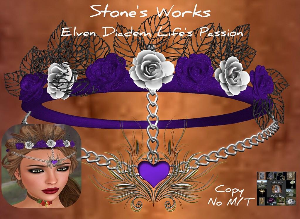 Elven Diadem Purple Roses