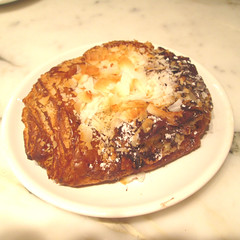 Twice baked Chocolate Coconut with Almonds Croissant