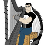 The Punisher and his harps