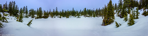 cabinlake blackmountain westvancouver bc canada spring snow trees landscape panorama multishotpanorama lightroom canoneos2t1 raw canonefs1855mmlens