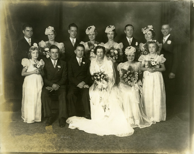 35 Dietrich-Sheetz wedding party Sept. 1, 1940