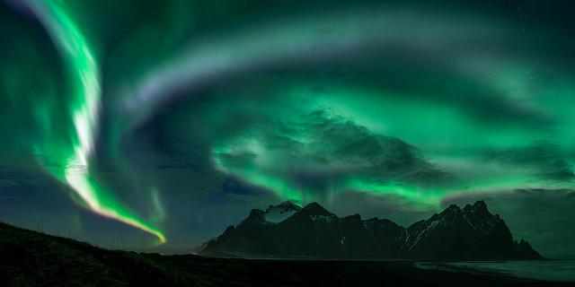 Even more northern lights over Vestrahorn