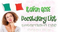 Italian GCSE Vocabulary List