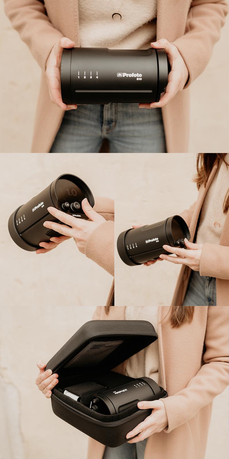 equipo de iluminación para fotografía en exterior