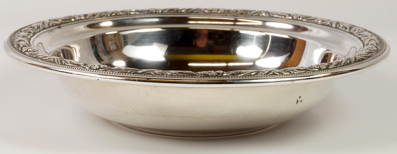 RD27846 Vintage Wallace Sterling Silver Bowl Dish Pattern # 3621 Weighs 80 Grams DSC00702