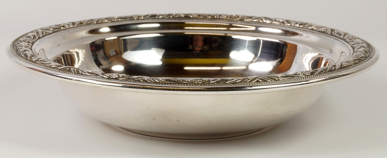 RD27846 Vintage Wallace Sterling Silver Bowl Dish Pattern # 3621 Weighs 80 Grams DSC00700