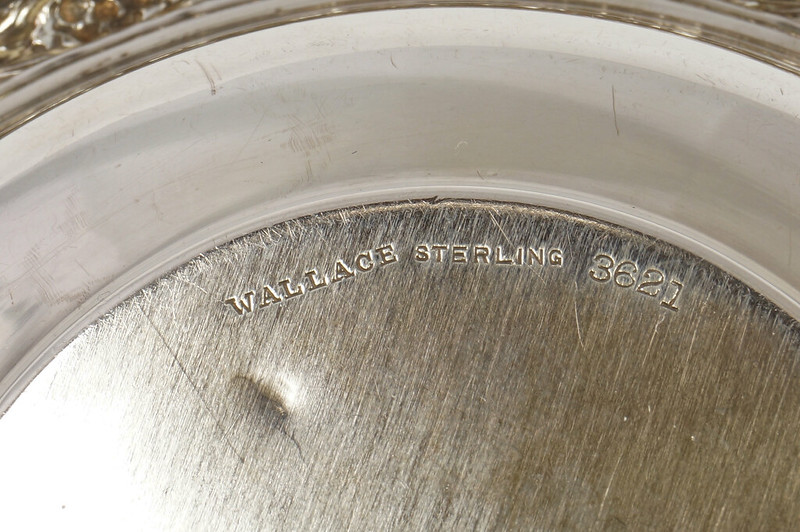 RD27846 Vintage Wallace Sterling Silver Bowl Dish Pattern # 3621 Weighs 80 Grams DSC00695
