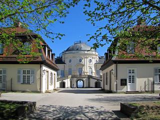 Spring-like palace entry