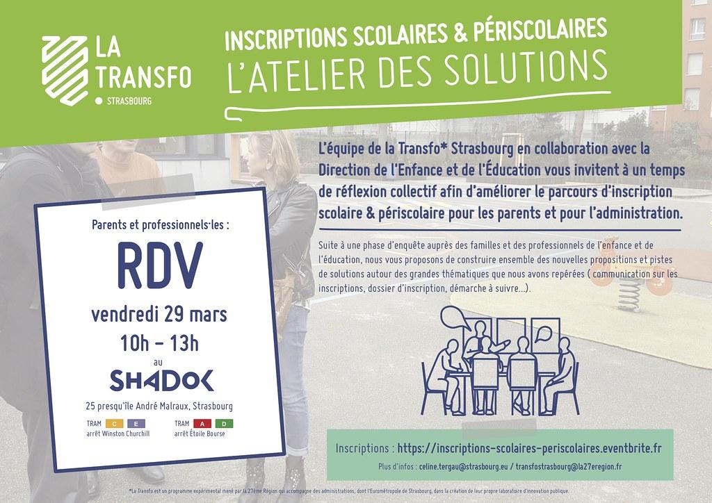 Invitation à l'atelier des solutions Inscriptions-scolaires-périscolaires