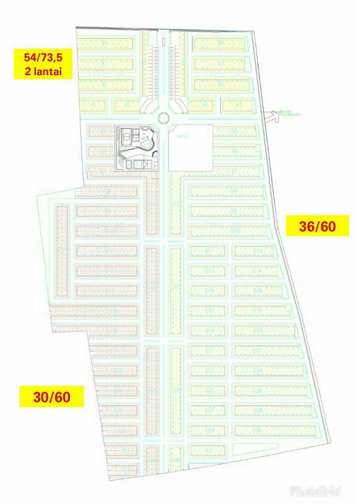 siteplan Grand Madani Village Bekasi