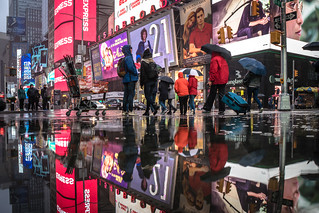 Reflections of Times Square NYC | by teresapilcher