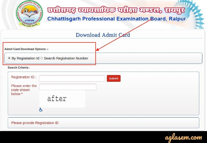 CG Pre MCA 2019 Admit Card (Available): Download Here