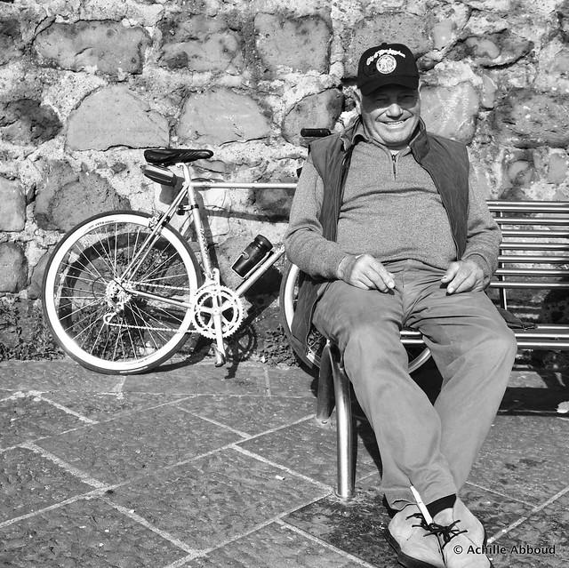 Old man in Herculaneum   Ercolano   Italy