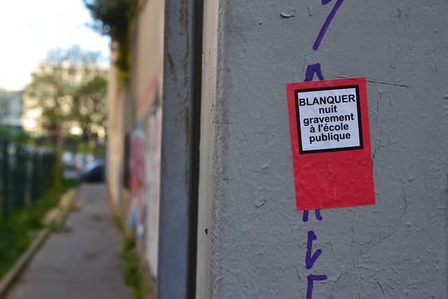 Série loi Blanquer dans les rues de Paris