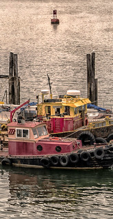 Workboats and Harbor Buoy--Detail