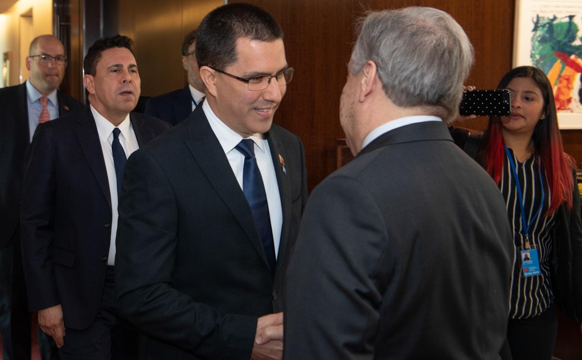 Canciller Arreaza sostiene extraordinaria reunión con Secretario General de la ONU