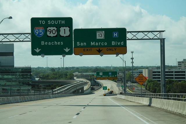 FL13 South - To I-95 US90 US1 Jacksonville