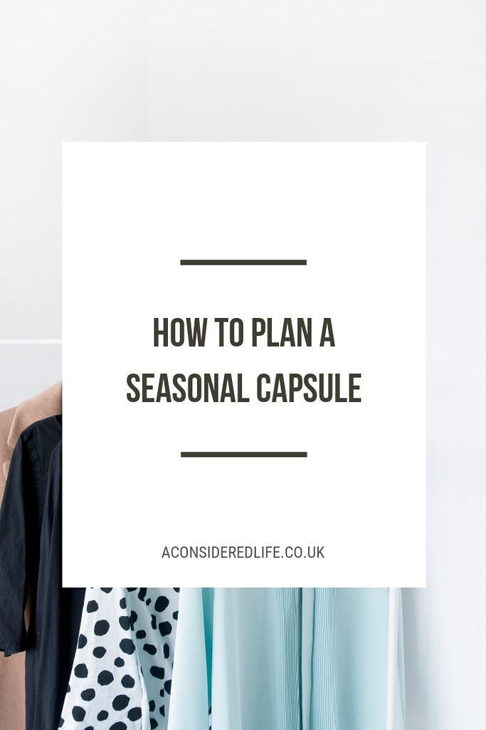 Planning A Seasonal Capsule