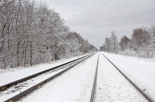 winter winterphotography winterrailroadphotography winterontherailroad winterandrailroads snow railroadtracksinsnow csx csxeriewestsubdivision