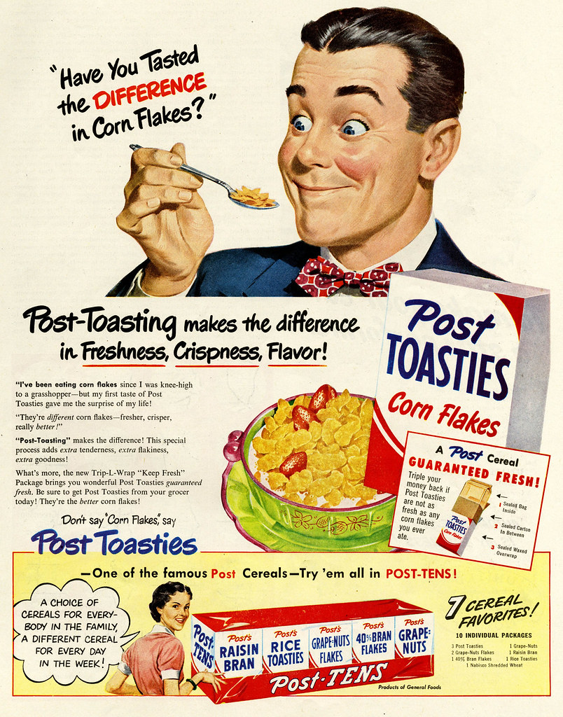 Post Toasties 1950