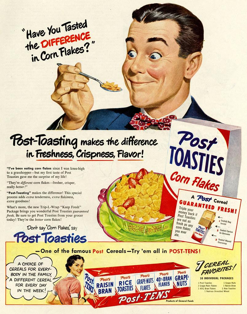 Post Toasties 1950