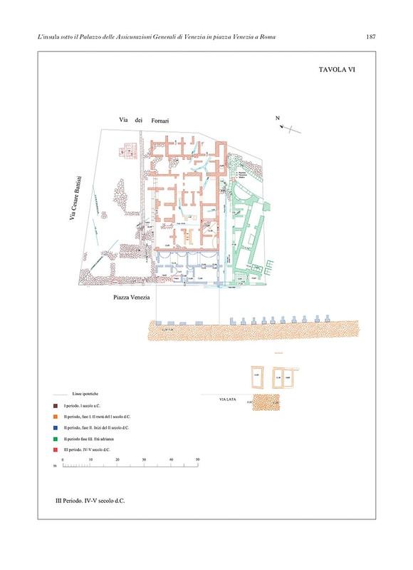 """ROMA ARCHEOLOGICA & RESTAURO ARCHITETTURA. L. Cucinotta, """"L'insula sotto il Palazzo delle Assicurazioni Generali di Venezia in piazza Venezia a Roma."""" BullCom. 113 (2012): 157-188 [in PDF], Foto (s): Maria Barosso (1932) & Pz. Venezia (1935)."""
