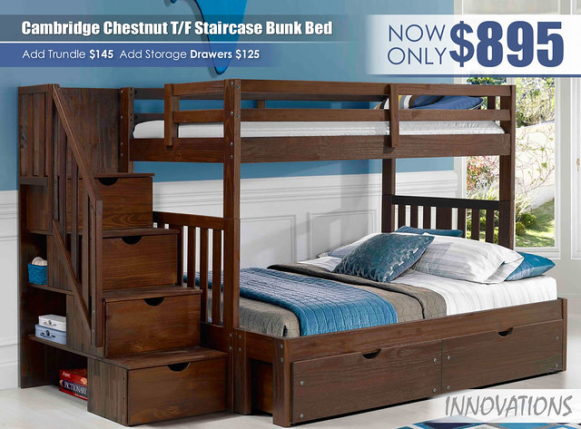 Cambridge Twin over Full Staircase Bunk Bed By Innovations