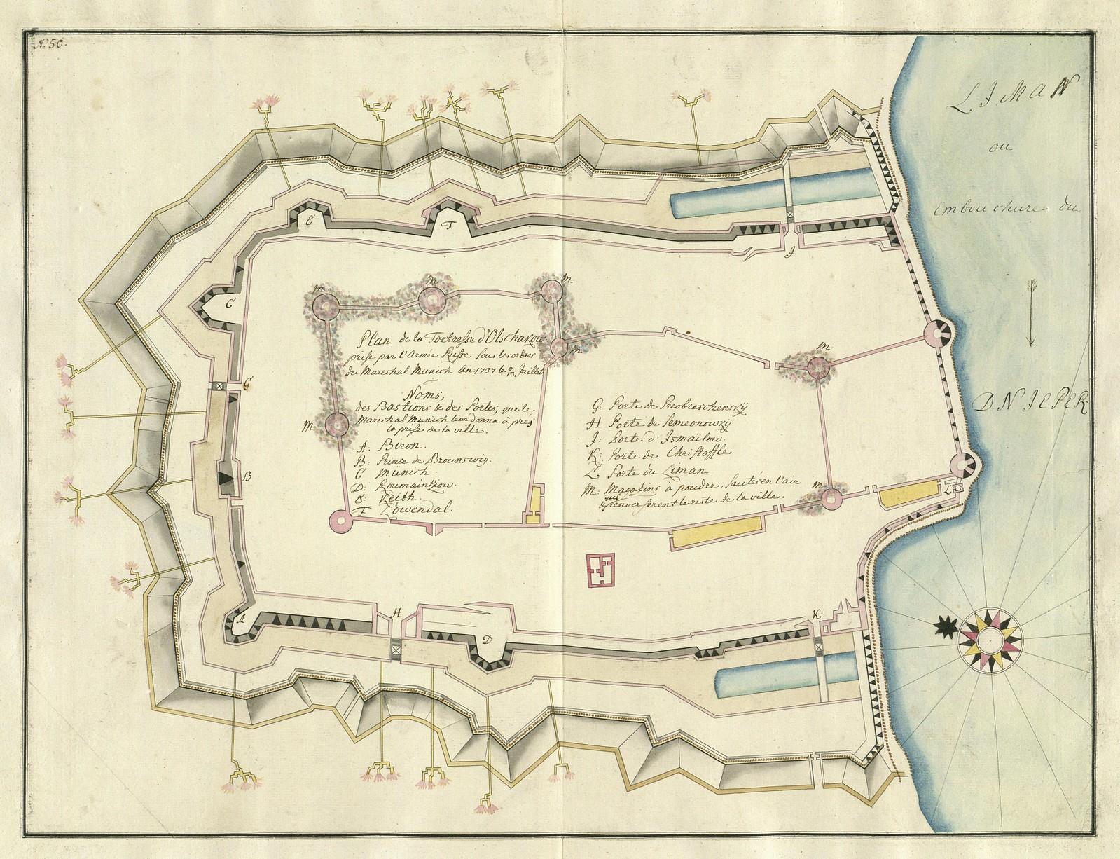 1737. План крепости Очаков