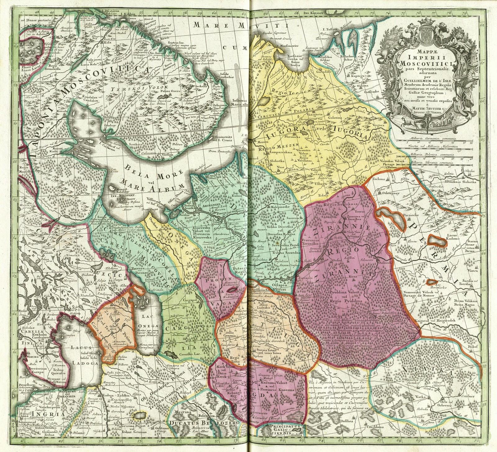 1730. Карта империи Московитов