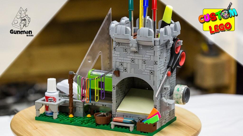 How to build LEGO Castle Desktop Organizer (MOC)