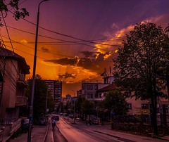 Somewhere in Pristina sunset looks so beautiful