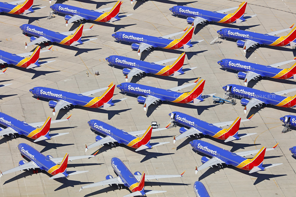 Boeing 737Max 8, Southwest Airlines, Victorville - California